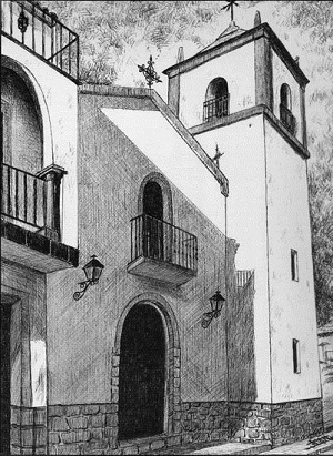 Iglesia de San Juan Bautista en Montizón, pueblo de la Comarca del Condado
