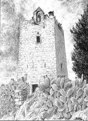 Torre del Castillo de Sorihuela del Guadalimar, pueblo de la Comarca del Condado de Jaén